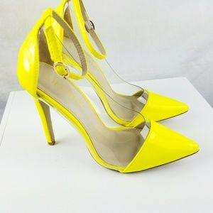Neon Yellow Lilanna Heels